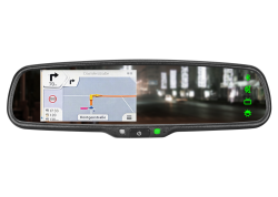 "4,3"" Touch Navi/Rearview Mirror Monitor HQ 12V DC"