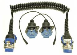 ABS EBS WCC 11-MINAX Set krulkabel + 2 sockets incl. 15cm cable, 20