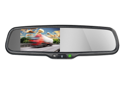 "4,3"" Rearview Mirror Monitor HQ 12V with Bluetooth HF/A2DP"