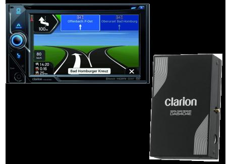 CLARION 2DIN RADIO/CD/CAMPERNAV/BT/USB/SD/DAB+