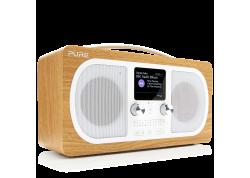 Evoke H6 oak, draagbare DAB+/FM stereoradio & BT Speaker