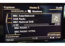 DAB+U USB DAB radio in Audi