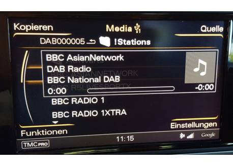 DAB+U USB DAB radio in Audi