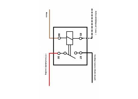 Schakel Relay 30Amp 12V achteruitrij signaal