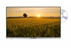 Caratec 80cm LED TV brede kijkhoek, DVB-S, bijna frameloos, met DVD-speler