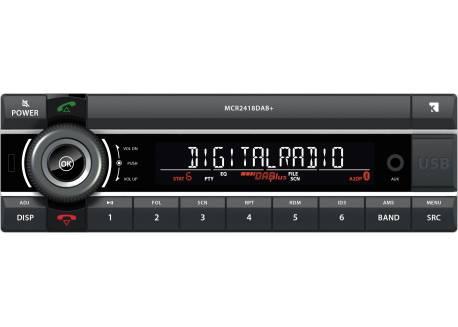 1DIN 24V Truckradio 2x USB/AUX/BT/DAB+